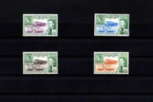 ANTIGUA - 1962 - QE II - CENTENARY - STAMP ON STAMP - ENGLISH HARBOR - MNH SET!
