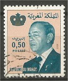 MOROCCO, 1981, used 50c, King Hassan II, Scott 513