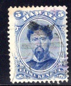 Hawaii #39, light Honolulu cancel, c. 1890