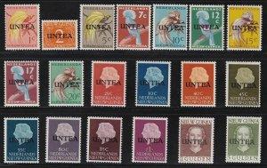 1962 Nouvelle-Guinee Ned. N°1/19 Untea Series Di 19 Values MNH