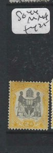 BRITISH CENTRAL AFRICA  (P0207B)  ARMS 2D SG 44 MNH