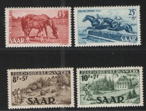 Germany - Saar 1949 Sc# B65-B68 MH VG/F  Saar semi postal issues