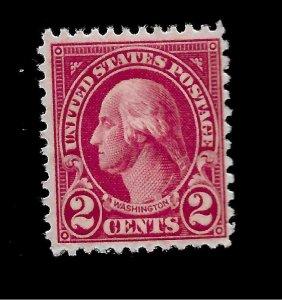 US 1922 Sc# 554 2c WASHINGTON  Mint NH - Vivid  Color - Centered