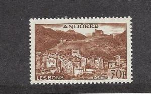 Andorra (French), 141, Scenic Design Single, MNH