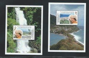 Dominica  souvenir sheet  mnh sc  1418 - 1419
