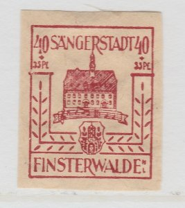 Finsterwalde WWII Germany World War II Local Stamp 1946 40+35pf MNH** A20P4F191