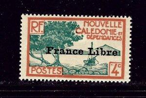 New Caledonia 220 MH 1941 overprint