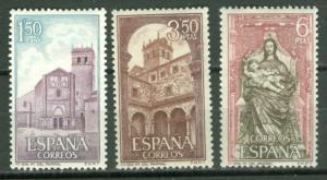 Spain # 1552-54  Segovia Monestery (3)  Mint NH