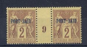 Port Said Scott 2 Mint NH (#9 Millesime) - Catalog Value 70 Euros