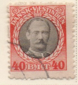 Danish West Indies Sc 49 1908 40 bit vermilion & gray Frederik VIII stamp used