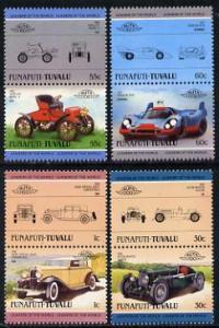 Tuvalu - Funafuti 1985 Cars #2 (Leaders of the World) set...