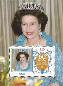Nevis - 1986 Queen Elizabeth II Birthday - Stamp Souvenir Sheet - Scott #476