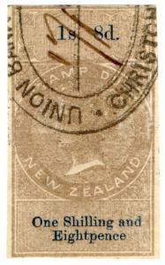 (I.B) New Zealand Revenue : Stamp Duty 1/8d (reversed watermark)