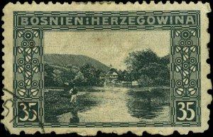 Bosnia and Herzegovina Scott #39d Used  Perf 12 1/2 x 9 1/2 x 6 1/2 x 12 1/4