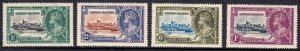 Cayman Islands - Scott #81-84 - MH - Gum toning - SCV $14.55