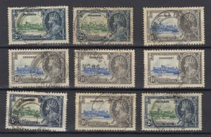 Nigeria KGV 1935 1 1/2d 2d Silver Jubilee Collection Used JK2406