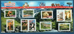 2006 FRANCE - SG:MS 4169 - FRENCH REGIONS (7)- UMM - SPLIT INTO 2 ON MIDDLE PERF
