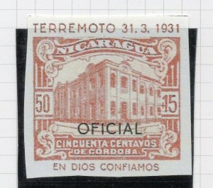 Nicaragua 1931 PROOF Issue Fine Mint Hinged 50c. Optd Official NW-14279