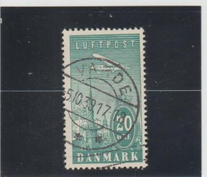 Denmark  Scott#  C8  Used  (1934 Towers of Copenhagen)