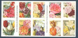 5042-5051 (5051a) US Postage Botanical Art Block Of 10 Mint/nh Free Shipping