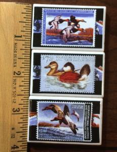 6 sets of 3 Federal Duck Stamp Refrigerator Magnets