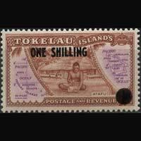 TOKELAU 1956 - Scott# 5 Map Surch. Set of 1 LH