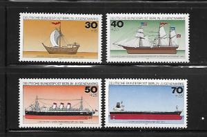 BERLIN, 9NB133-9NB136, MNH, SHIP TYPE OF 1977