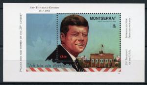 Montserrat JFK Stamps 1998 MNH John F Kennedy US Presidents Famous People 1v M/S