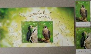 Singapore 2019 birds animals fauna s/s +set MNH