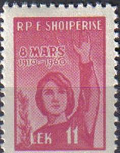 ALBANIA, 1960, MH 11l. 50th Anniv of International Women's Day.