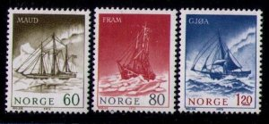 Norway Sc 596-598 MLH Set 1972 Polar Exploration Ships Very Fine