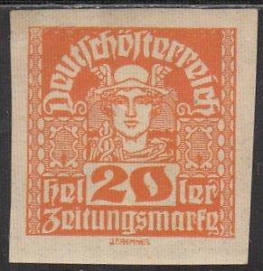 Austria, Sc P39, MNH, 1920, Newspaper Stamp