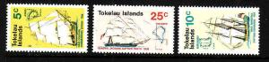 Tokelau-Sc#22-24-Unused NH set-Ships-1970-