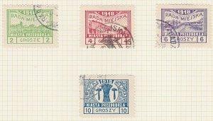 POLAND 1918 PRZEDBORZ local post set used...................................A613