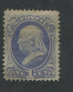 1870 US Stamp #145 1c Mint F/VF No Gum Perf 12. Catalogue Value $240
