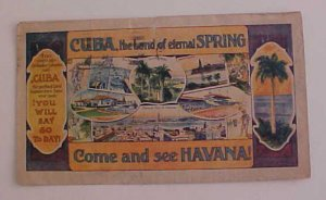 CUBA  MULTICOLOR PICTORIAL ALL OVER AD 1937 HABANA TO USA