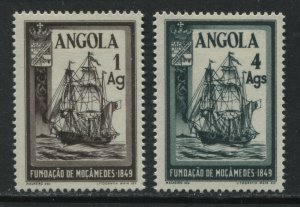 Angola 1949 set of 2 mint o.g. hinged