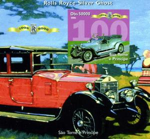 Sao Tome & Principe 2006 Car Rolls Royce Anniversary s/s Imperforated mnh.vf