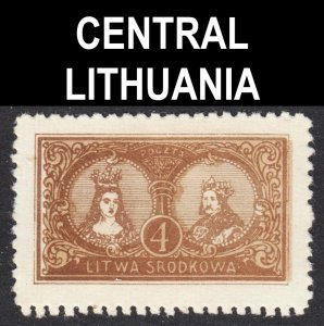 Central Lithuania Scott 38 UNLISTED perf 11 3/4. VF mint H.