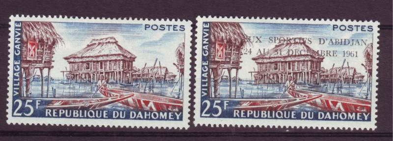 J15293 JLstamps 1960-1 dahomey mh sets of 1 w/ovpt #137, 152