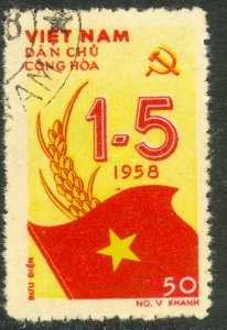 VIETNAM NORTH 1958 50d MAY DAY Issue Sc 69 CTO Used