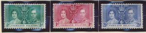 Falkland Islands Stamps Scott #81 To 83, Mint Hinged - Free U.S. Shipping, Fr...
