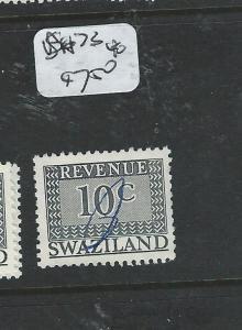 SWAZILAND (P1907B) MODERN REVENUES 10C  BH73  VFU