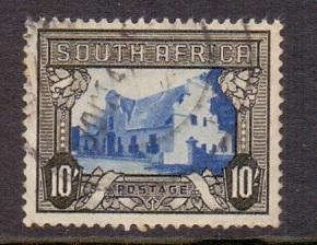 South Africa 1933 used 10s. (E) black brown Cape Town  #