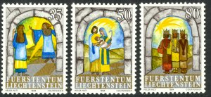 LIECHTENSTEIN 1984 CHRISTMAS Set Sc 801-803 MNH