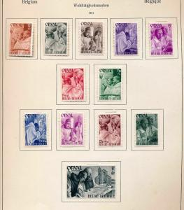 BELGIUM 1941/43 Orval Sheets Imperf Perf M&U (Appx 50+) (Ref 592