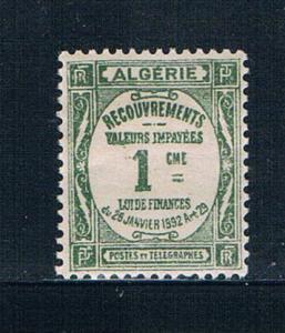Algeria J12 Unused Postage due 1926 (A0334)+