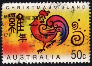Christmas Island: SC#449 50¢ Chinese New Year: Year of the Rooster (2004) Used