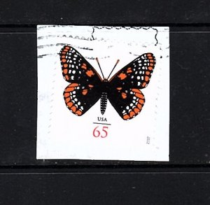 USA # 4603  Baltimore Checkerspot Butterfly   65 cent  used