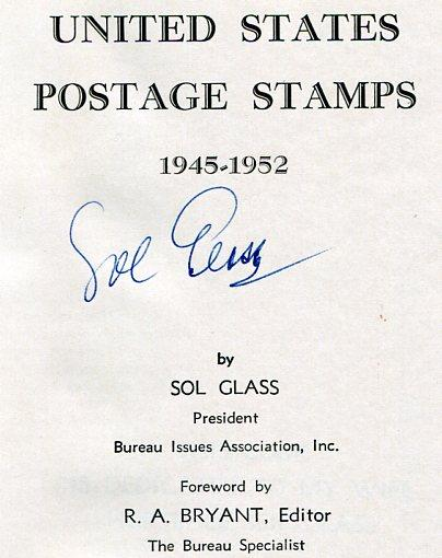 Book - US Postage Stamps 1945-1952 by Sol Glass 1954, 280 pp